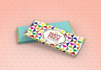 Chocolate Candy Bar Sleeve Mockup