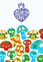 Printed roller blinds Watercolor Skull Day of dead cute watercolor mexican cartoon card