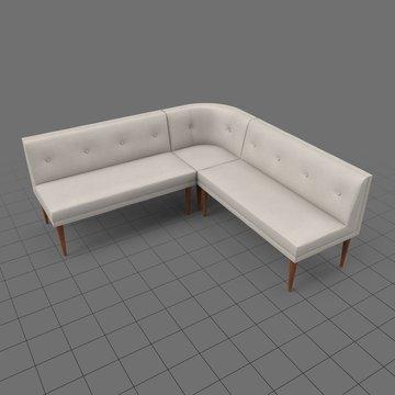 Mid century modern corner sofa 2