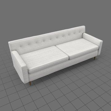 Mid century modern two seater sofa 2