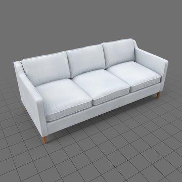 Mid century modern three seater sofa