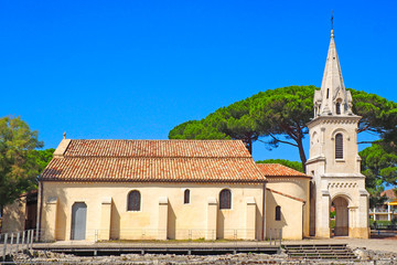 Saint Eloi church in Andernos les Bains, in the Arcachon basin, in New Aquitaine, in the south west of France