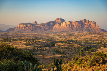 Photo sur Aluminium Bleu ciel The landscape of Gheralta in Tigray, Northern Ethiopia