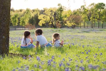 Girls in bluebonnets
