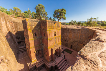 Church of St. George (Bete Giyorgis), Lalibela, Ethiopia.