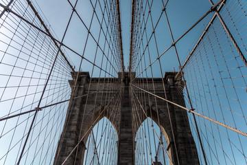 Spoed Fotobehang Brooklyn Bridge Brooklyn bridge New York city image, sunrise image of the New York Brooklyn bridge