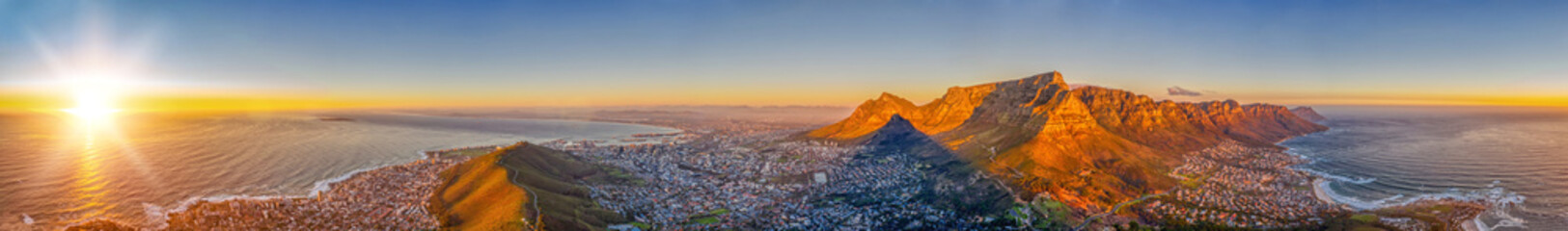 Photo Stands Deep brown Cape Town aerial view