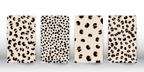 Leopard print design. Animal skin pattern.