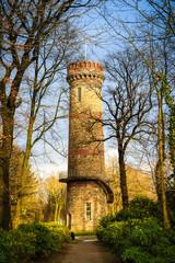 Toelleturm in Wuppertal-Barmen in herbstlichen Farben