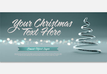 Holiday Scene Text Mockup