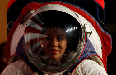 NASA unveil prototype spacesuits for astronauts to wear on the moon in Washington
