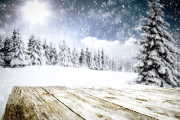 winter background of free space and snowflakes decoration