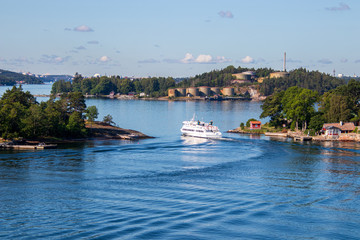 The Stockholm archipelago in Sweden.