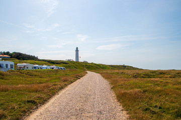 Hirtshals lighthouse in North Jutland, Denmark.