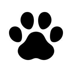 dog paw footprint icon vector french bulldog cartoon symbol character illustration design