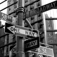 Street sign in New York City