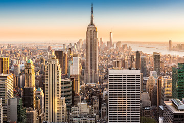Canvas Prints New York New York skyline on a sunny afternoon
