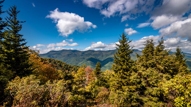 Hints of fall in Blue Ridge Parkway