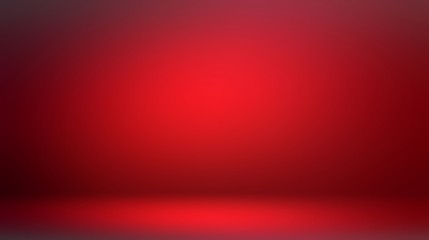 Attractive red room 3d background. Low light and shade vignette. Dramatic interior. Ruby color. Fotomurales