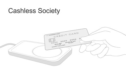 Cashless society and digital payments (Smart card)