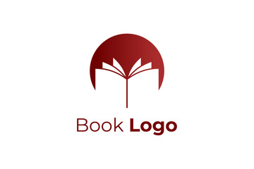 Open Book Logo Education Symbol Paper Icon Vector Illustration