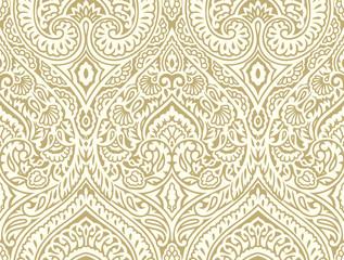 Seamless vintage damask wallpaper design
