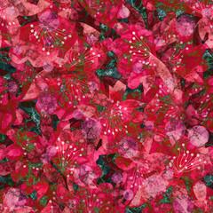 Aluminium Prints Crimson Seamless floral flowers abstract grunge pattern background