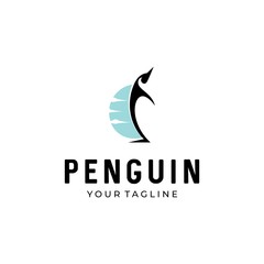 penguin vector logo icon symbol design