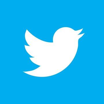 Twitter Bird vector icon EPS 10