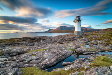 Wall Mural - A long exposure of Rhue lighthouse