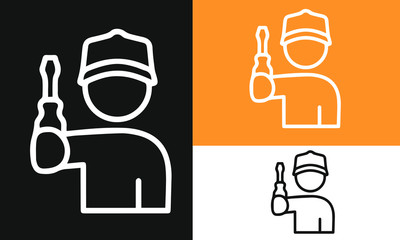 Auto Repair Thin Line Icons vector design