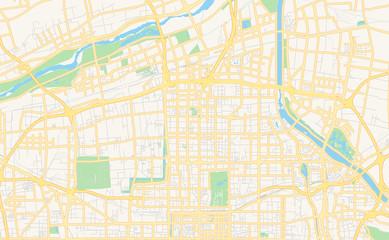 Printable street map of Xi an, China Fototapete