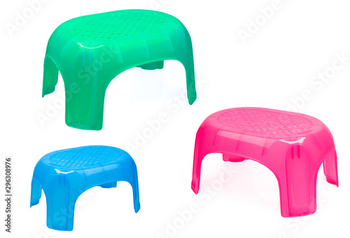 Remarkable Plastic Stool For Bathroom Or Kitchen Children Chair Green Onthecornerstone Fun Painted Chair Ideas Images Onthecornerstoneorg