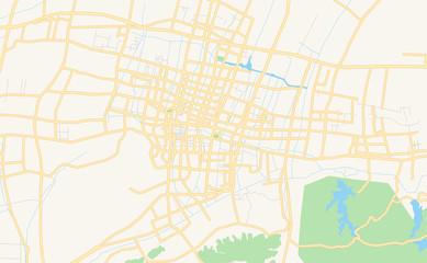 Printable street map of Cixi, China