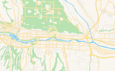 Printable street map of Baoji, China