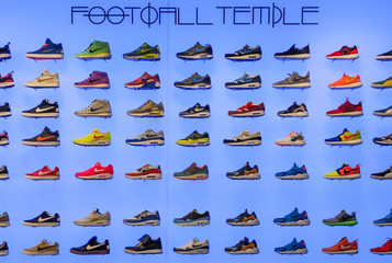 Football Temple - trainer shop display