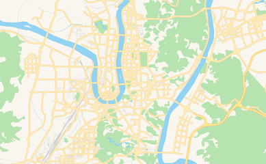 Printable street map of Liuzhou, China