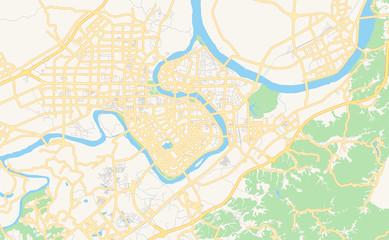 Printable street map of Ganzhou, China