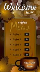 Cofee menu
