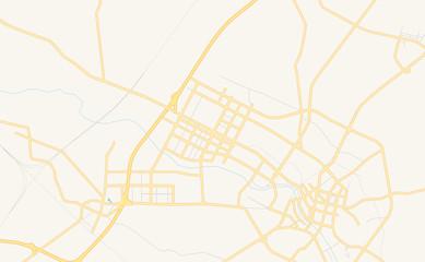 Printable street map of Haicheng, China