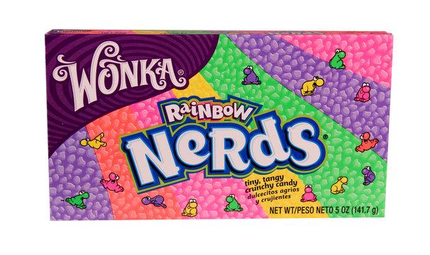 box of Wonka Nerds Candy
