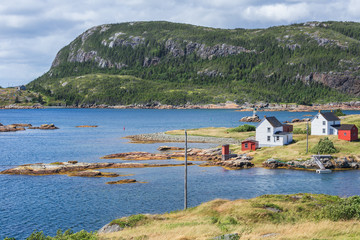 Traditional salt box houses in the fishing village of Salvage, Newfoundland&Labrador, Canada