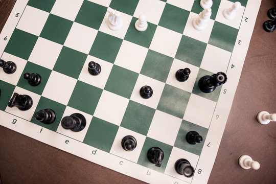Overhead of chess game in progress