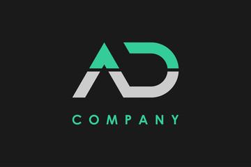 Logo Letter A and D Linked Vector Illustration