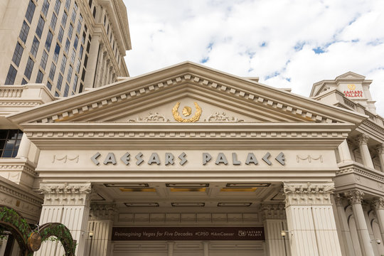 View of the iconic Caesars Palace on October 28, 2016 in Las Vegas, Nevada