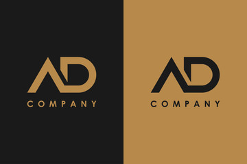 Letter A and D Logo Design Vector Logo Template