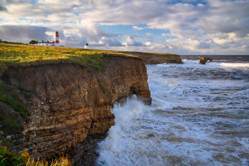 Souter Lighthouse and Magnesian Limestone Cliffs, located on the South Tyneside coastline at Lizard Point