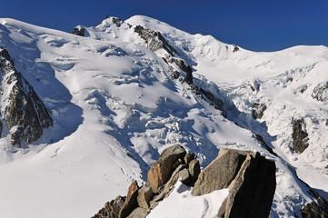 Papiers peints Bleu nuit Massif du Mont Blanc, Haute Savoie, France