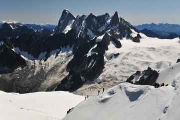 Papiers peints Gris traffic Glaciers autour de l'Aiguille du Midi