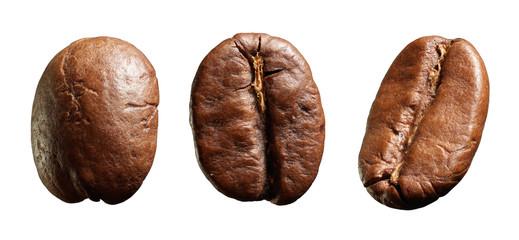 Three coffee beans.